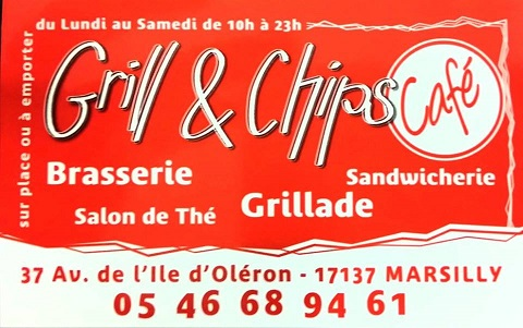 Restaurant Grill and Chips Café  à Marsilly